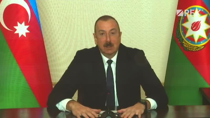 🇦🇿📹РБК Президент Азербайджана Алиев — о жизни армян в Карабахе после войны.