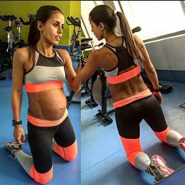 Даже несмотря на беременность девушки продолжают заниматься спортом, что думаете?