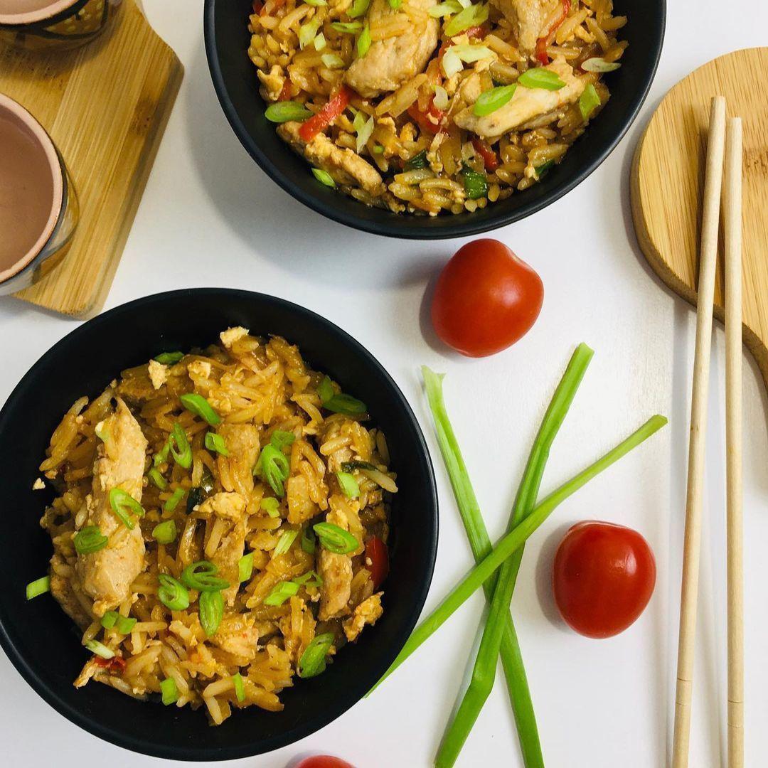 Жареный рис со свининой по-китайски