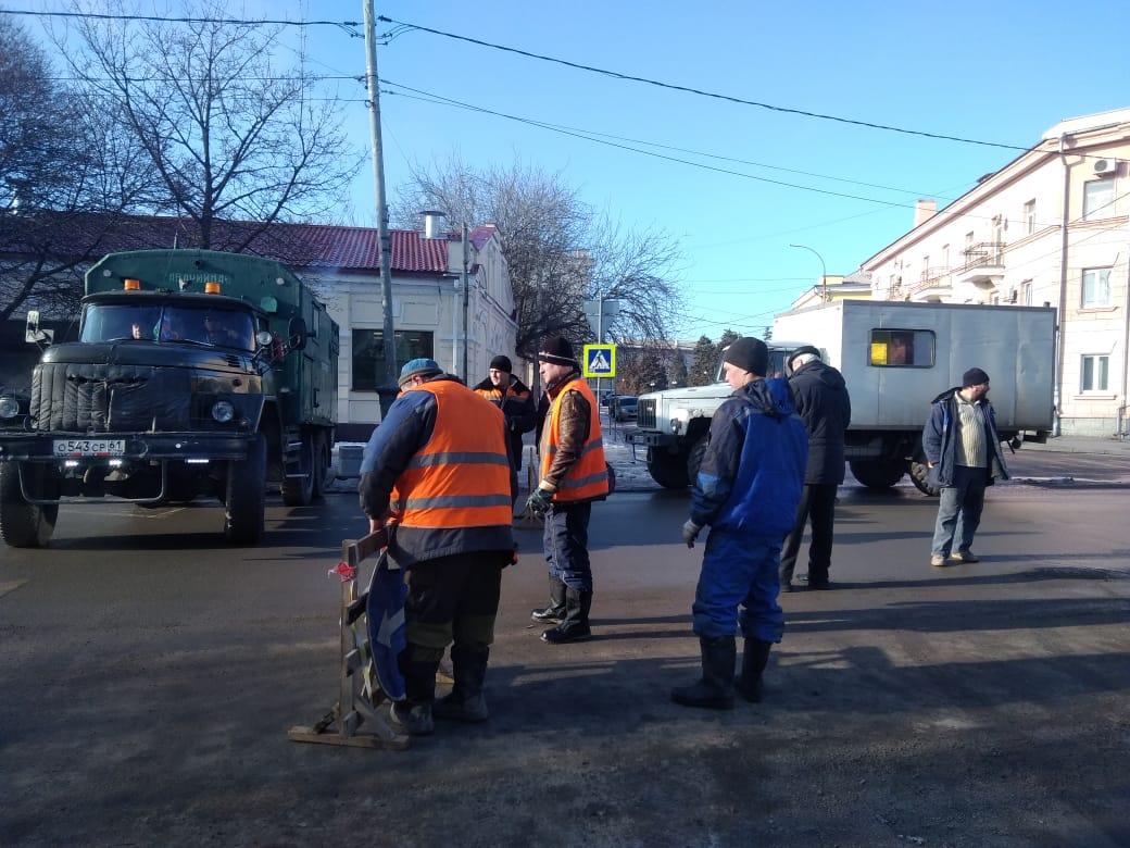 В Таганроге продолжается восстановление аварийного участка самотечного коллектора