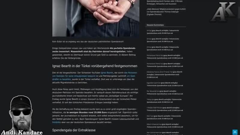 """Ignaz Bearth verhaftet """"Tränenreiche Spendenshow zockt 25 000 Euro ab """""""