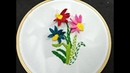 Hand Embroidery Design | Woven Picot Stitch Flower Embroidery | Flores en Puntada Picot