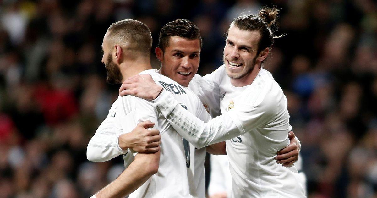 Гарет Бейл, Криштиану Роналду и Карим Бензема. ФК Реал Мадрид
