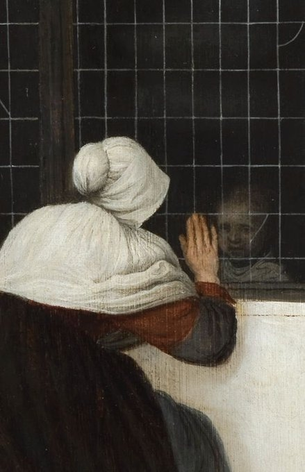 Якоб Врель «Женщина у окна, машущая девушке» (1650)