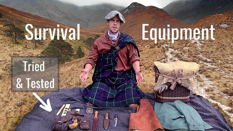 Highlander Survival Equipment 17th Century Tried and Tested Full Rundown Clothing Tools Pack