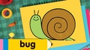 How to Draw Bugs   Simple Drawing Lesson for Kids   Step By Step