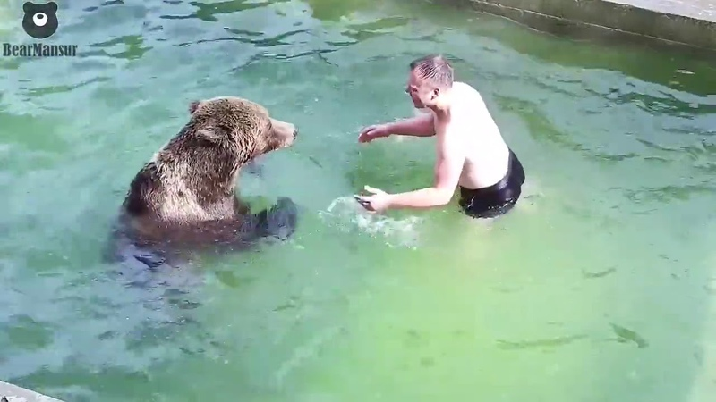 Купание с Мансуром в бассейне сентябрь 2020
