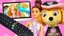 Видео про куклы и игрушки. Тайная жизнь игрушек. Скай, Барби и Кен не поделили пульт от телевизора