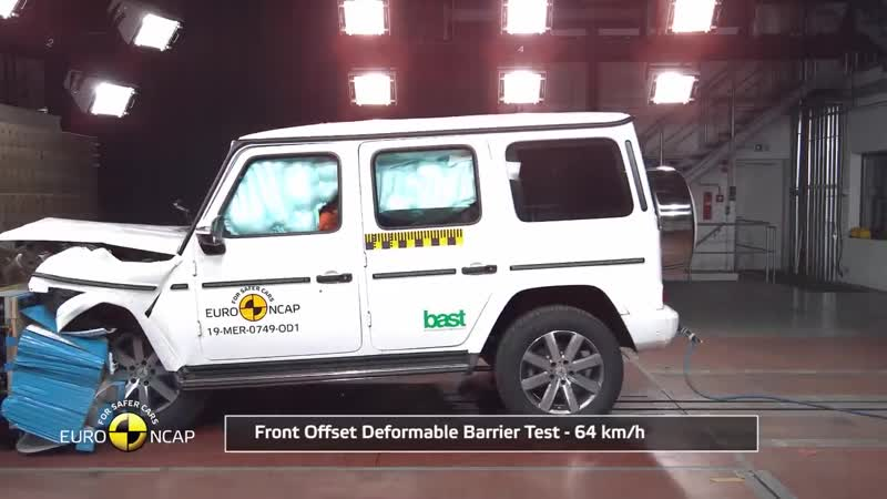 Euro NCAP Crash Test of Mercedes Benz G Class 2019