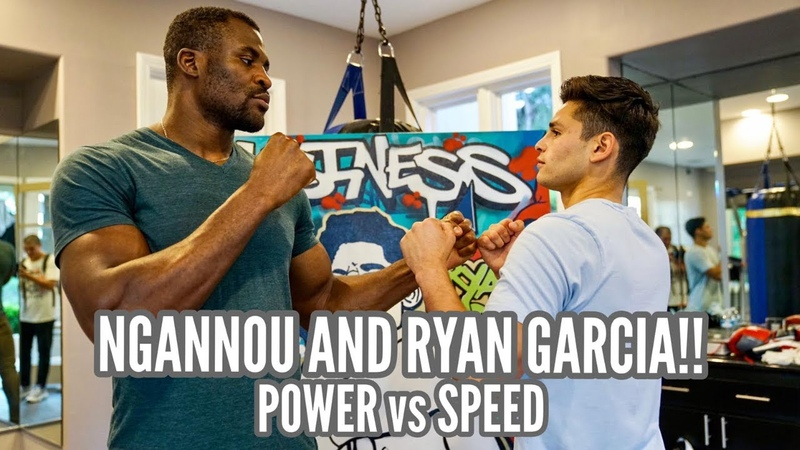 FRANCIS NGANNOU tests his POWER against the SPEED of RYAN GARCIA