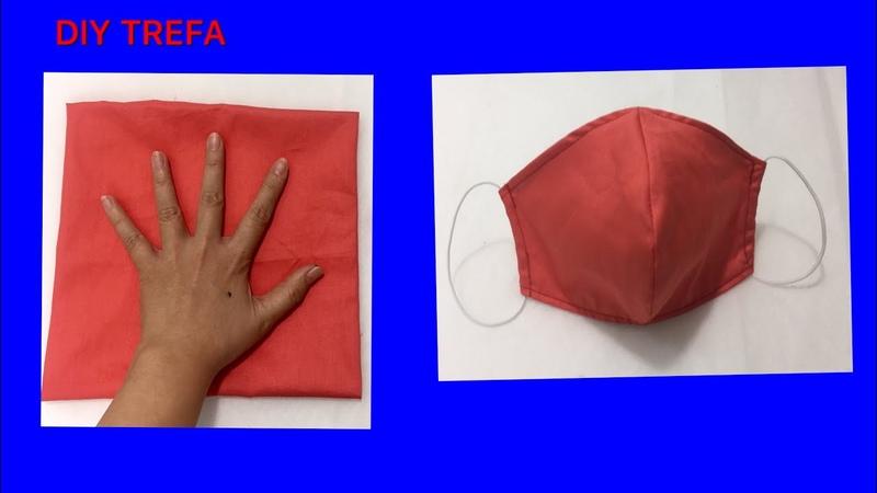 Làm rập khẩu trang từ bàn tay siêu dễ/Make masks by hand the easiest/手でマスクを作るための指示