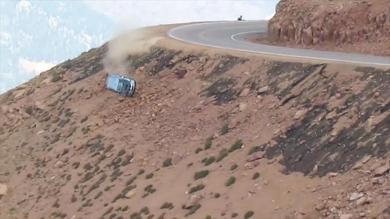 Jeremy Foley's crash at the 2012 Pikes Peak International Hill Climb Multiple Angles