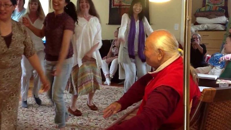 Tibetan Dancing with Chogyal Namkhai Norbu at Tsegyalgar East