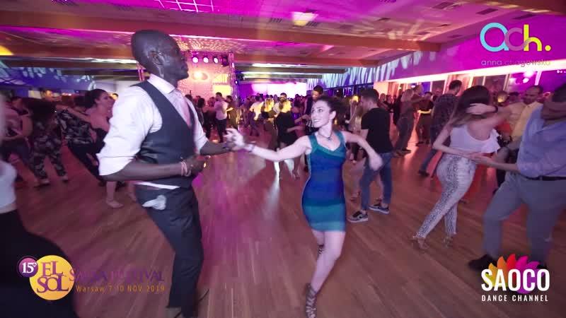 Olu Kongi and Shaqed Frumkin Salsa Dancing at El Sol Warsaw Salsa Festival 2019, Friday 08.11.2019