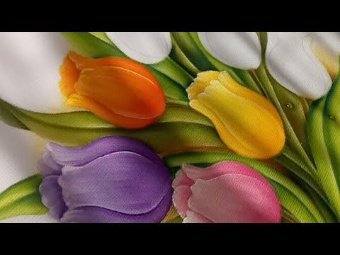 Tutorial De Pintura Textil Tulipanes De Colores