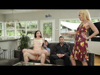 Leia Rae, Tiffany Fox - Family Swap Wife (Foursome, FFMM, Blonde, Blowjob, Cowgirl, Creampie, Squirt, Natural Tits)