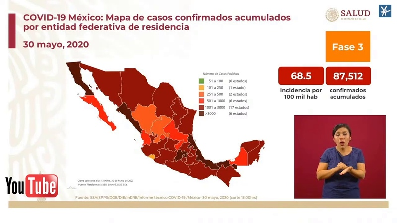 Conferencia Dr Hugo López Gatell Sábado 30 Mayo 2020 COVID19 Pandemia en México 🏠🏠🏠