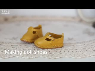 Making doll shoes for paolareina  DIY mini shoes leatherworks