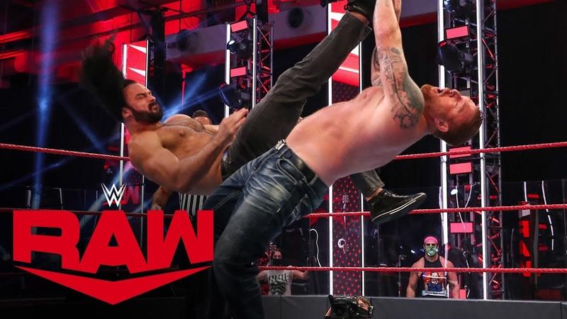My1 Drew McIntyre vs Heath Slater Raw July 6 2020
