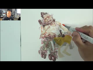 Live Drawing ( How to use Copic Markers)