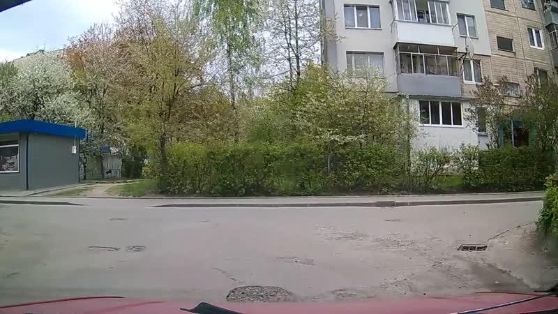 Вулицями Львова на авто 1 Тролейбусна Орлика
